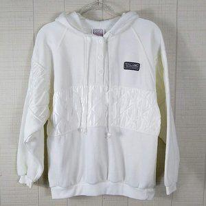 Vintage Spalding Hoodie Sweatshirt Quilted Satin
